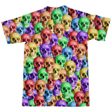 Rainbow Skulls T-Shirt-Subliminator-| All-Over-Print Everywhere - Designed to Make You Smile