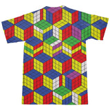 Rubik's Cube Invasion T-Shirt-kite.ly-S-| All-Over-Print Everywhere - Designed to Make You Smile