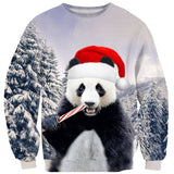 Santa Panda Sweater-Subliminator-| All-Over-Print Everywhere - Designed to Make You Smile