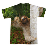 Wuddup Sloth T-Shirt-Subliminator-| All-Over-Print Everywhere - Designed to Make You Smile
