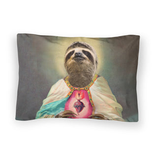Sloth Jesus Bed Pillow Case Shelfies