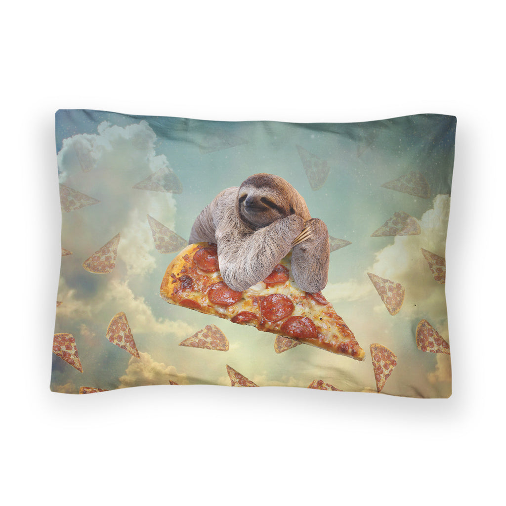 Sloth Pizza Bed Pillow Case-Shelfies-| All-Over-Print Everywhere - Designed to Make You Smile