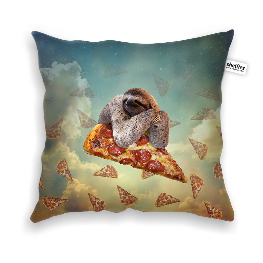 Sloth Pizza Throw Pillow Case-Shelfies-| All-Over-Print Everywhere - Designed to Make You Smile