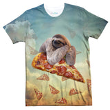 Sloth Pizza T-Shirt-Subliminator-| All-Over-Print Everywhere - Designed to Make You Smile