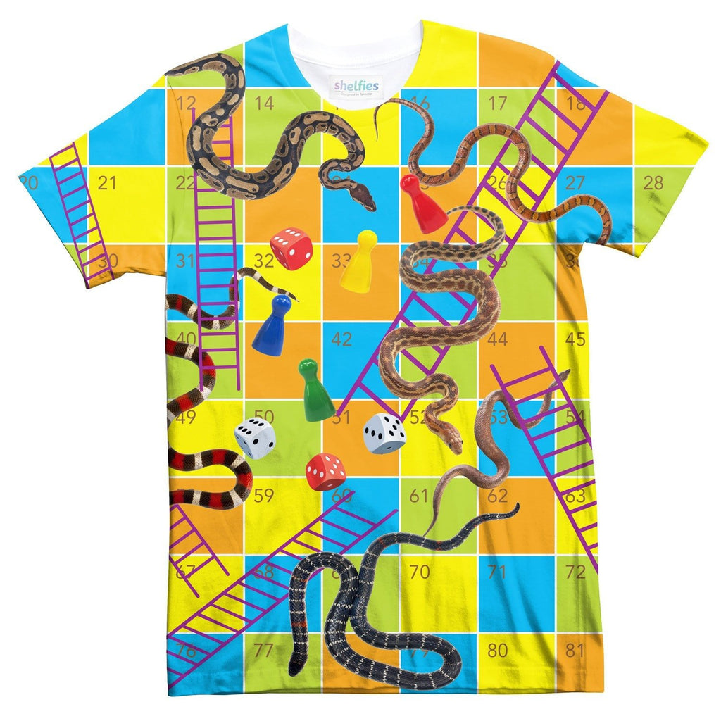 Snakes & Ladders With Pieces T-Shirt-Subliminator-| All-Over-Print Everywhere - Designed to Make You Smile