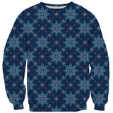 Snowflake Sweater-Shelfies-| All-Over-Print Everywhere - Designed to Make You Smile