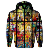 Stained Glass Hoodie-Subliminator-| All-Over-Print Everywhere - Designed to Make You Smile