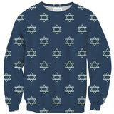 Star of David Sweater-Shelfies-| All-Over-Print Everywhere - Designed to Make You Smile