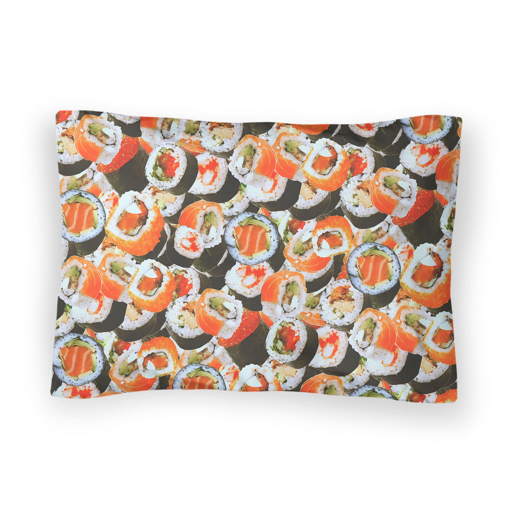 Sushi Invasion Bed Pillow Case-Shelfies-| All-Over-Print Everywhere - Designed to Make You Smile