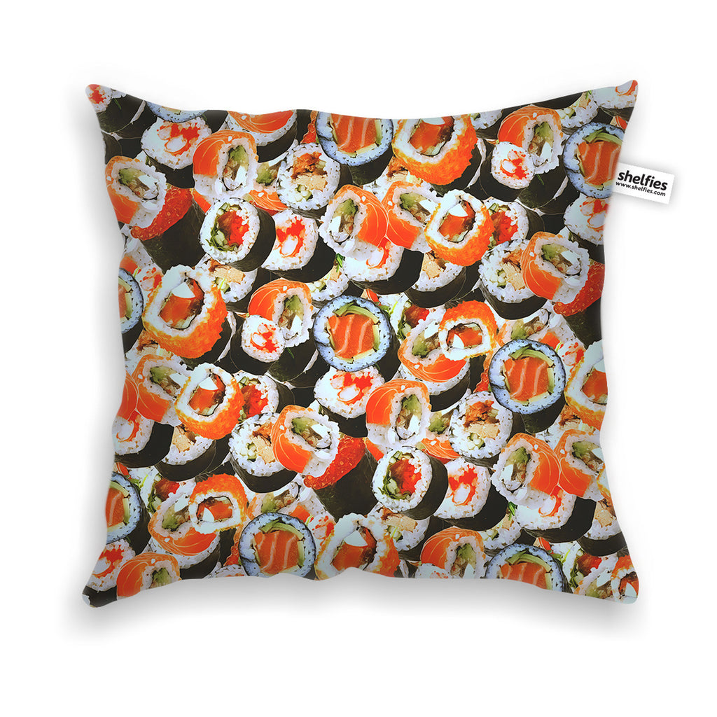 Sushi Invasion Throw Pillow Case-Shelfies-| All-Over-Print Everywhere - Designed to Make You Smile