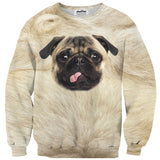 Pug Face Sweater-Subliminator-| All-Over-Print Everywhere - Designed to Make You Smile