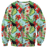 Tropical Bird Sweater-Subliminator-| All-Over-Print Everywhere - Designed to Make You Smile