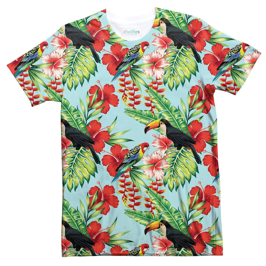 Tropical Bird T-Shirt-kite.ly-| All-Over-Print Everywhere - Designed to Make You Smile