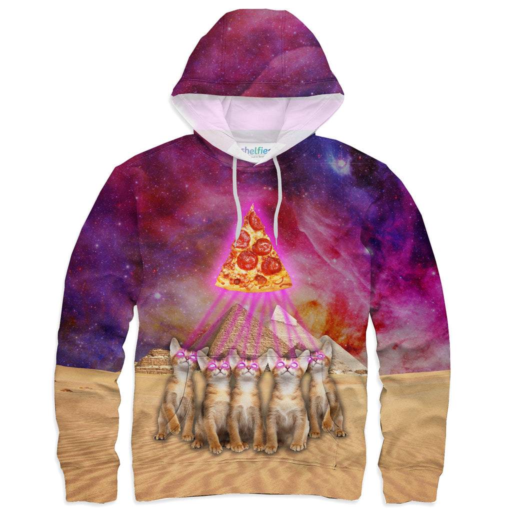 The Great Pyramid of Pizza Hoodie