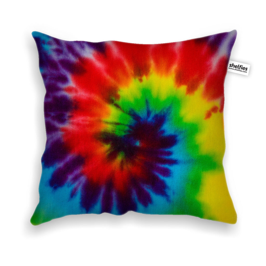 Tie Dye Throw Pillow Case-Shelfies-Velveteen-White-| All-Over-Print Everywhere - Designed to Make You Smile