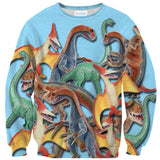 Toy Dinos Sweater-Subliminator-| All-Over-Print Everywhere - Designed to Make You Smile