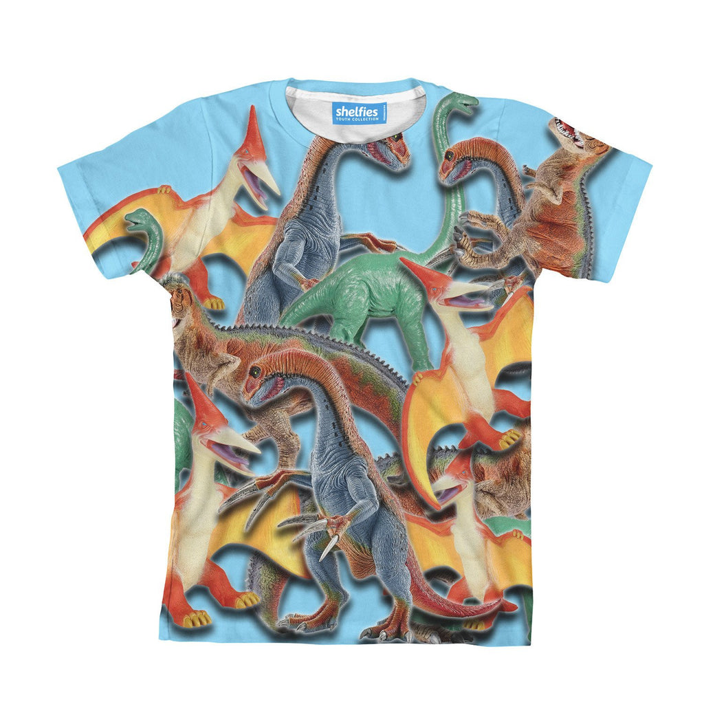 Toy Dinos Youth T-Shirt-kite.ly-| All-Over-Print Everywhere - Designed to Make You Smile