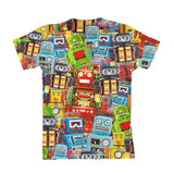 Toy Robots Youth T-Shirt-kite.ly-| All-Over-Print Everywhere - Designed to Make You Smile