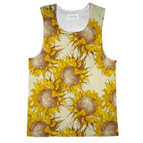 Vintage Sunflowers Tank Top-kite.ly-| All-Over-Print Everywhere - Designed to Make You Smile
