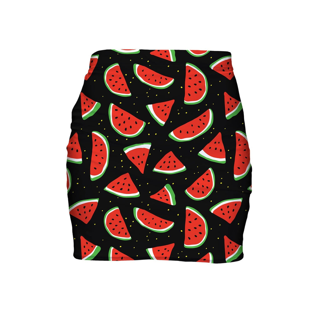 Watermelon Life Mini Skirt-Shelfies-| All-Over-Print Everywhere - Designed to Make You Smile