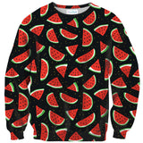 Watermelon Life Sweater-Shelfies-| All-Over-Print Everywhere - Designed to Make You Smile