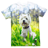 West Highland White Terrier Dog T-Shirt-Shelfies-| All-Over-Print Everywhere - Designed to Make You Smile