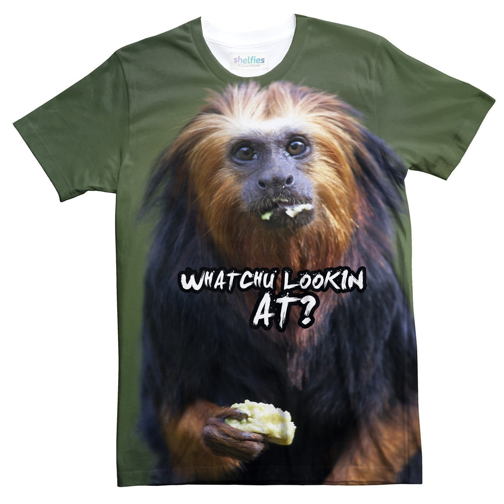 Whatchu' Lookin At? Orangutan T-Shirt-Shelfies-| All-Over-Print Everywhere - Designed to Make You Smile