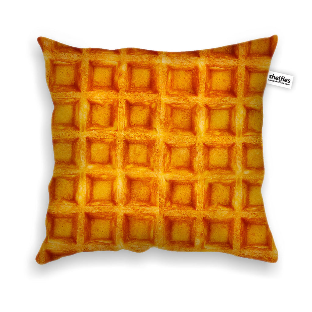 Waffle Invasion Throw Pillow Case-Shelfies-| All-Over-Print Everywhere - Designed to Make You Smile
