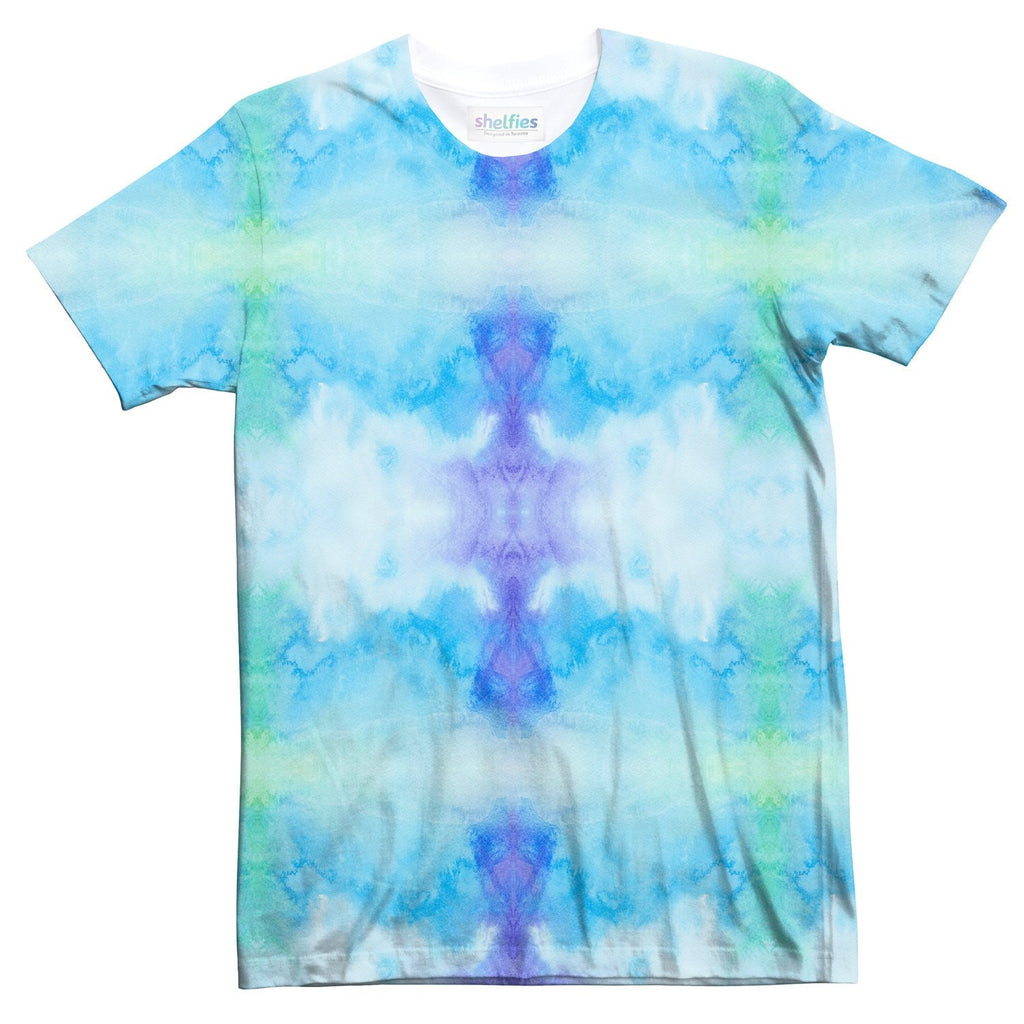 Watercolour T-Shirt-Shelfies-| All-Over-Print Everywhere - Designed to Make You Smile