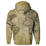 Vintage World Map Hoodie-Subliminator-| All-Over-Print Everywhere - Designed to Make You Smile