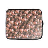 Your Face Custom Laptop Sleeve-Shelfies-15 inch-| All-Over-Print Everywhere - Designed to Make You Smile