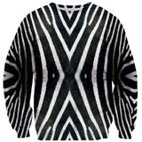 Zebra Face Sweater-Shelfies-| All-Over-Print Everywhere - Designed to Make You Smile