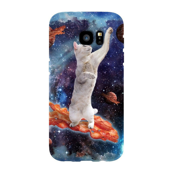 Bacon Cat Smartphone Case-Gooten-Samsung Galaxy S7 Edge-| All-Over-Print Everywhere - Designed to Make You Smile