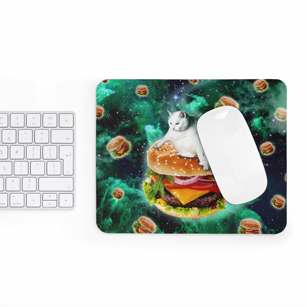 Hamburger Cat Mousepad-Printify-Rectangle-| All-Over-Print Everywhere - Designed to Make You Smile