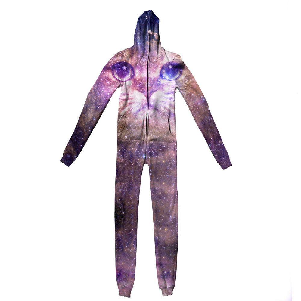 Adult Cat Nebula Jumpsuit - Shelfies | All-Over-Print Everywhere - Designed to Make You Smile
