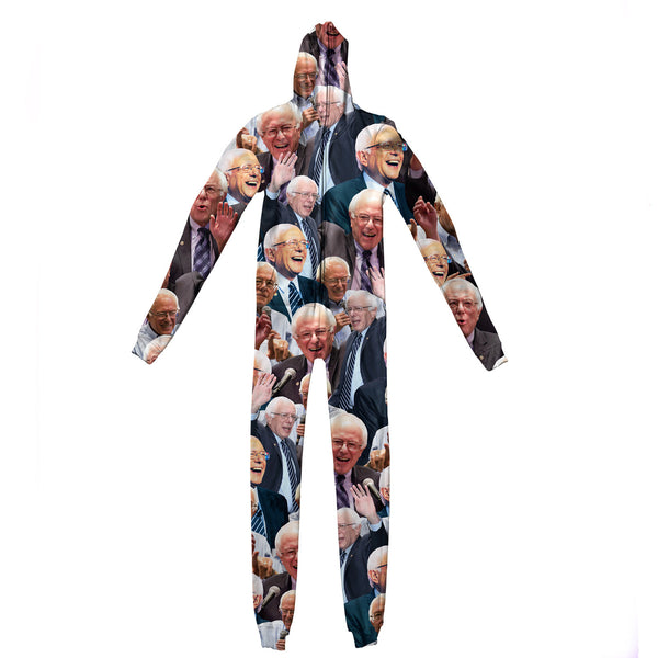 Bernie Sanders Face Adult Jumpsuit-Shelfies-S-| All-Over-Print Everywhere - Designed to Make You Smile