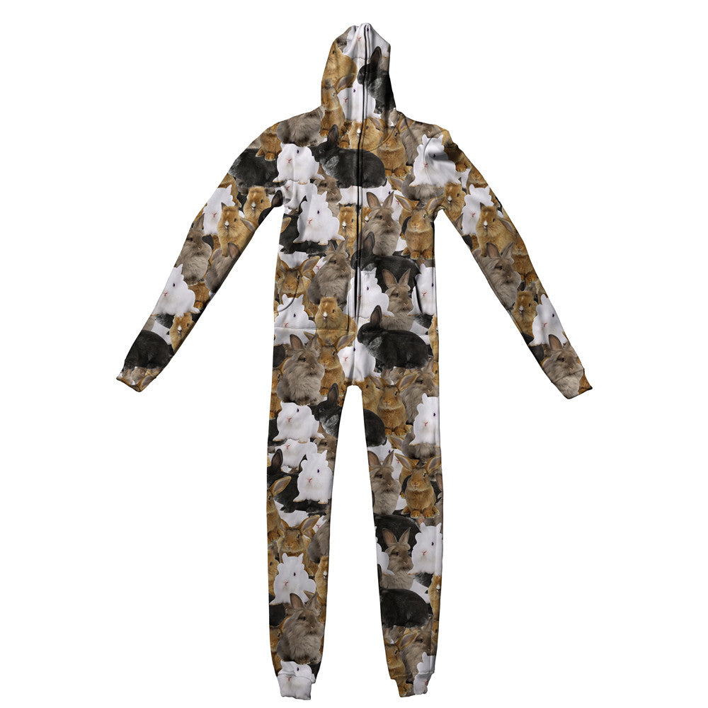 Bunny Invasion Adult Jumpsuit - Shelfies | All-Over-Print Everywhere - Designed to Make You Smile