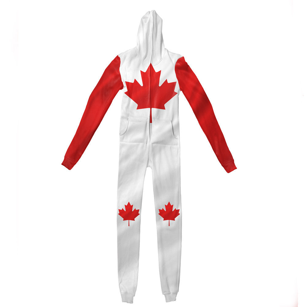 Canadian Flag Adult Jumpsuit-Shelfies-| All-Over-Print Everywhere - Designed to Make You Smile