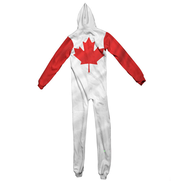 Canadian Flag Adult Jumpsuit-Shelfies-S-| All-Over-Print Everywhere - Designed to Make You Smile