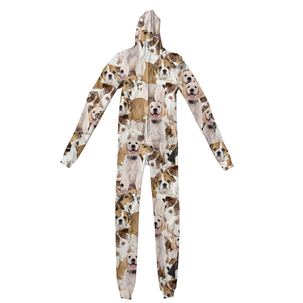 Doggy Invasion Adult Jumpsuit - Shelfies | All-Over-Print Everywhere - Designed to Make You Smile
