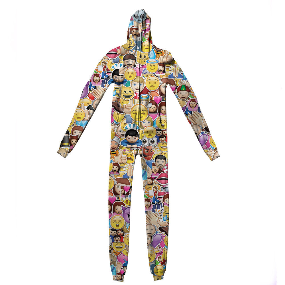Emoji Madness Adult Jumpsuit - Shelfies | All-Over-Print Everywhere - Designed to Make You Smile