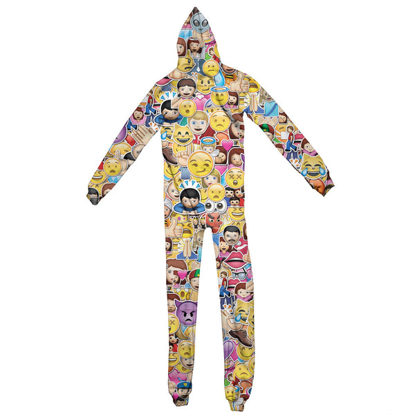 Emoji Invasion Adult Jumpsuit-Shelfies-| All-Over-Print Everywhere - Designed to Make You Smile
