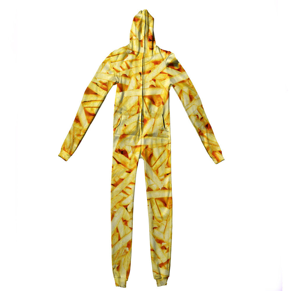 French Fries Invasion Adult Jumpsuit-Shelfies-| All-Over-Print Everywhere - Designed to Make You Smile