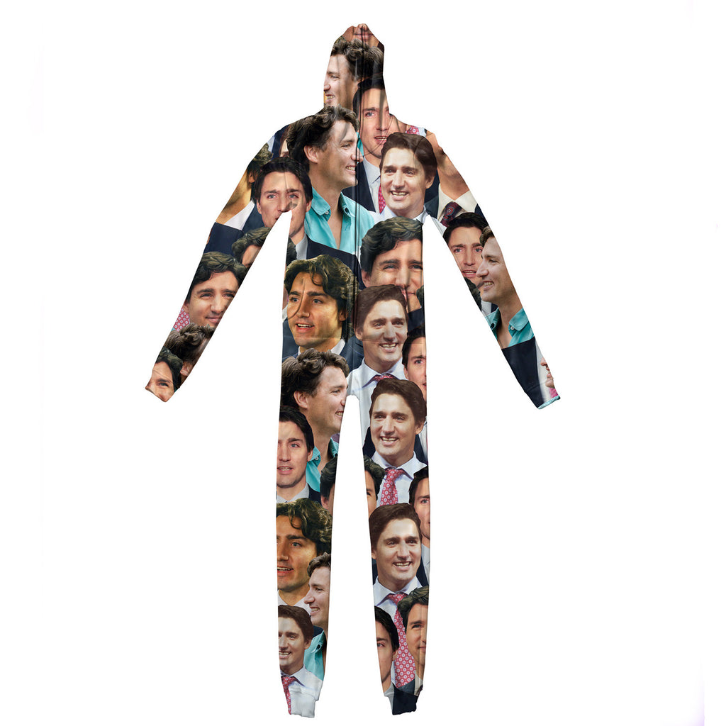 Justin Trudeau Face Adult Jumpsuit-Shelfies-| All-Over-Print Everywhere - Designed to Make You Smile