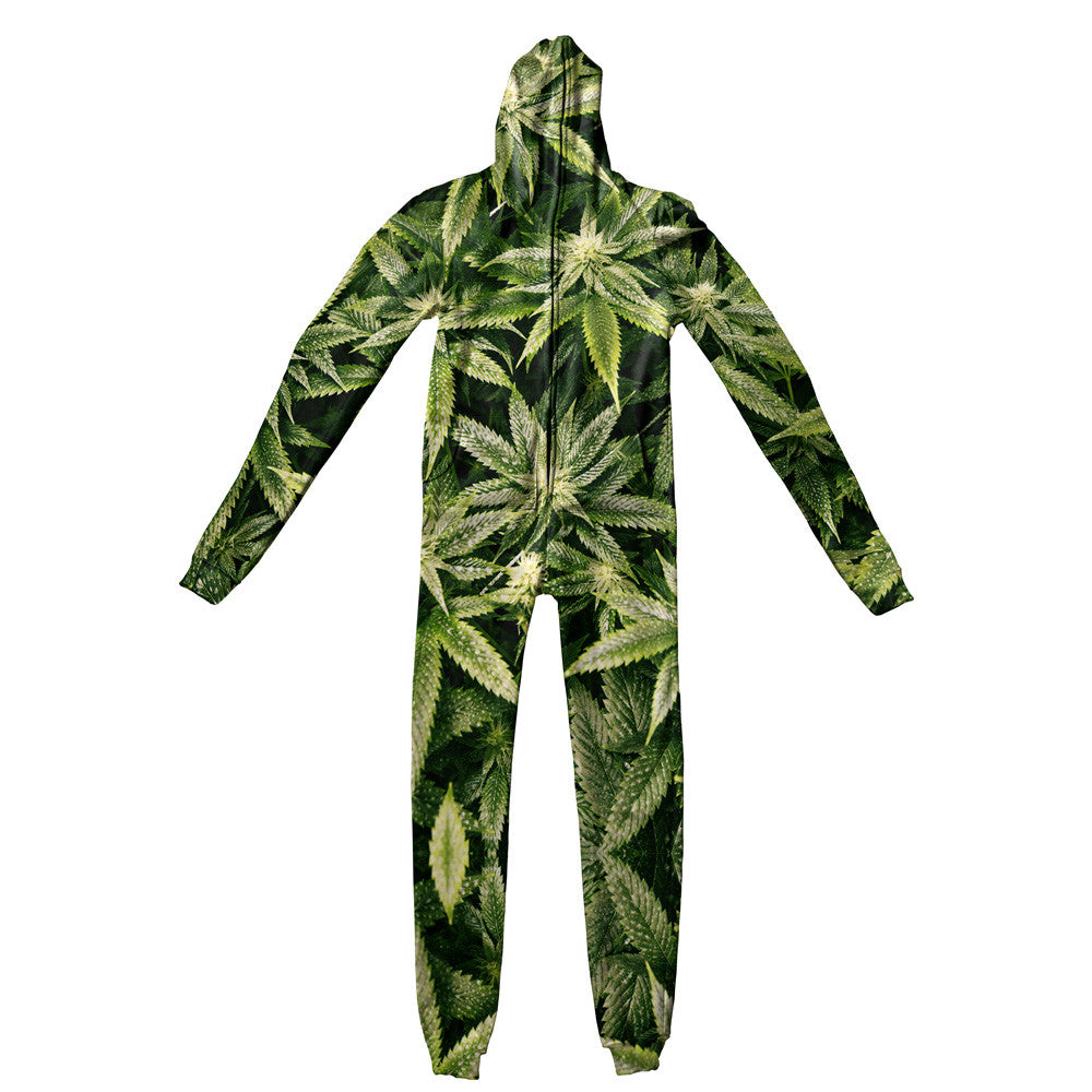 Kush Leaves Adult Jumpsuit - Shelfies | All-Over-Print Everywhere - Designed to Make You Smile