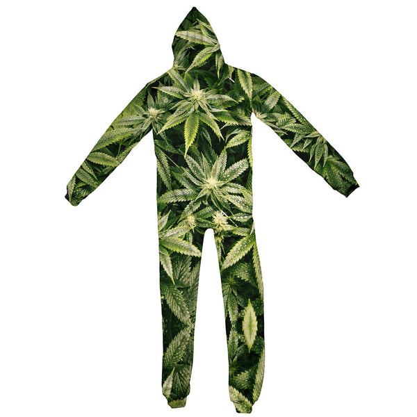 Kush Leaves Adult Jumpsuit-Shelfies-S-| All-Over-Print Everywhere - Designed to Make You Smile