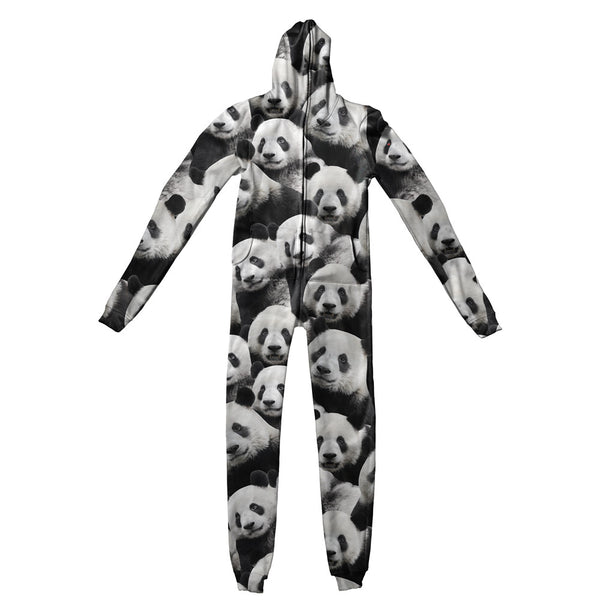 Panda Invasion Adult Jumpsuit-Shelfies-| All-Over-Print Everywhere - Designed to Make You Smile