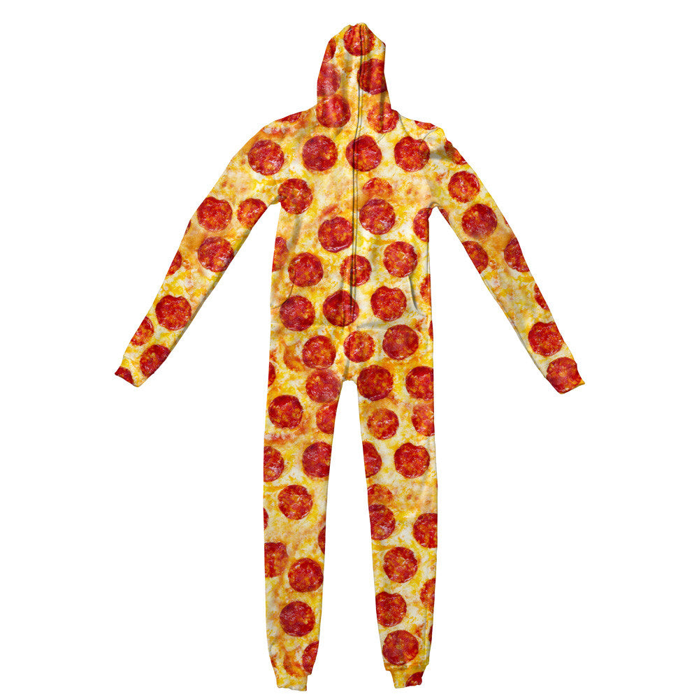 Adult Jumpsuits - Party Pizza Adult Jumpsuit