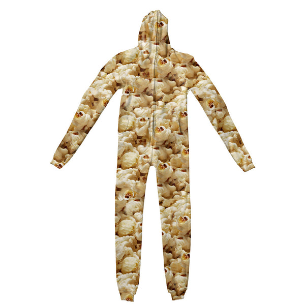 Popcorn Invasion Adult Jumpsuit-Shelfies-S-| All-Over-Print Everywhere - Designed to Make You Smile