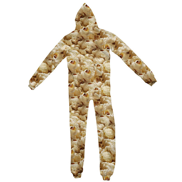 Popcorn Invasion Adult Jumpsuit-Shelfies-| All-Over-Print Everywhere - Designed to Make You Smile